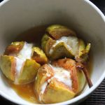 Baked Figs with Orange, Honey Sauce – Topped with Yogurt & Pistachios