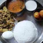 Lunch Menu Idea 10 – Potato Mochai Curry, Rasam, Neer Nellikai & Yogurt