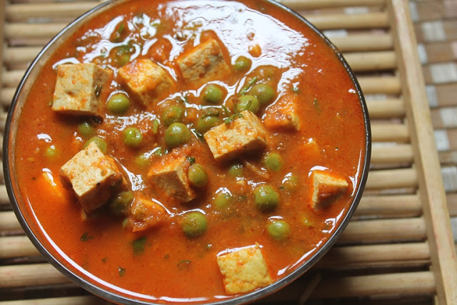 Tofu and Peas Curry Recipe – Tofu Matar Recipe