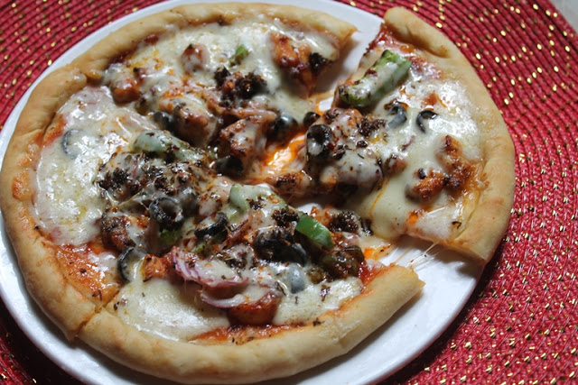 Chicken Pizza Recipe – Spicy Chicken Pizza Recipe