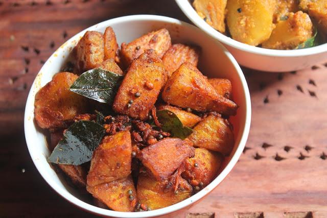 Cheema Chakka Poriyal Recipe – Bread Fruit Poriyal Recipe