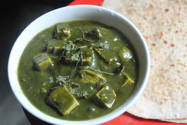 Palak Tofu Recipe – Tofu & Spinach Curry Recipe