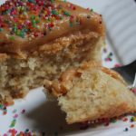 Eggless Vanilla Cake with Peanut Butter Frosting – Vanilla Cake using Condensed Milk