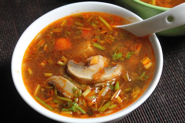 Thai Tom Yum Soup Recipe – Veg Tom Yum Soup Recipe