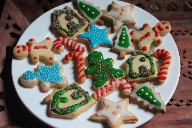 Glazed Sugar Cookies Recipe Decorated Christmas Cut Out Cookies