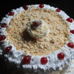 Eggless White Forest Cake Recipe