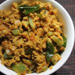 Ridge Gourd & Egg Bhurji Recipe – Peerkangai Egg Poriyal Recipe