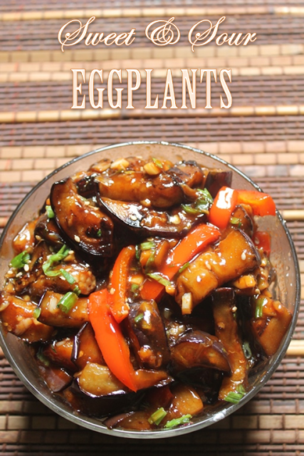 Sweet And Sour Eggplants Recipe Yummy Tummy