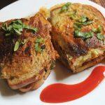 Chicken Stuffed Bread Omelette Recipe – Chicken Bread Omelette Recipe