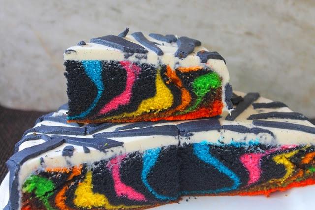 Rainbow Zebra Cake Recipe to Welcome New Year 2016!