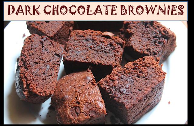 Fudgy Dark Chocolate Brownies Recipe
