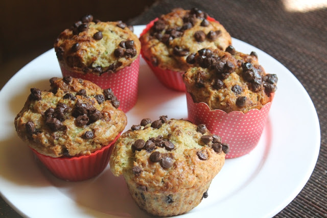Eggless Zucchini Banana Muffins Recipe – Healthy Zucchini Muffins Recipe