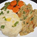 Mashed Potatoes With Chicken with Mustard Cream Sauce & Buttered Veggies – Continental Recipes 1