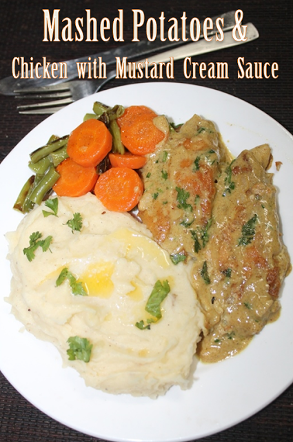 Mashed potatoes with chicken with mustard cream sauce buttered if you want me to share any other of your favourite continental platter please let me knowi would love to try it forumfinder Images