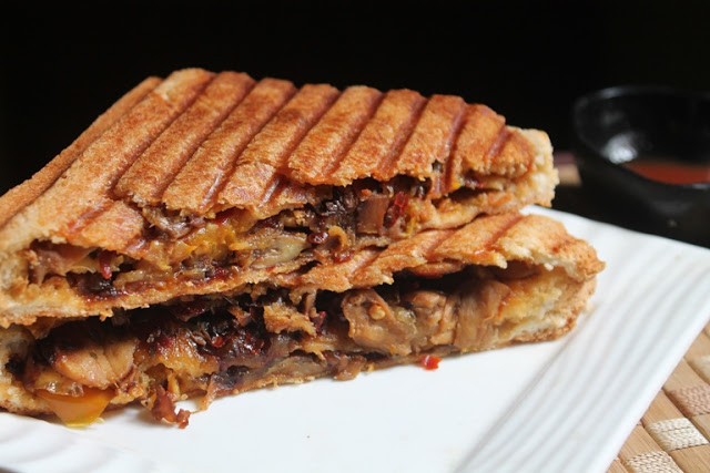 Mushroom Cheese Sandwich Recipe – Triple Mushroom Sandwich Recipe