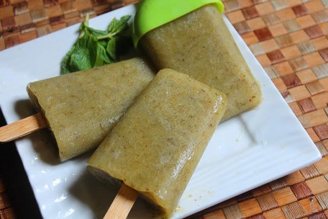 Raw Mango Popsicles Recipe – Mango Mint Popsicles Recipe