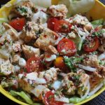 Simple Italian Chicken Salad with Homemade Salad Dressing