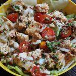 Simple Italian Chicken Salad with Homemade Salad Dressing