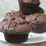 Bakery Style Double Chocolate Chunk Muffins Recipe