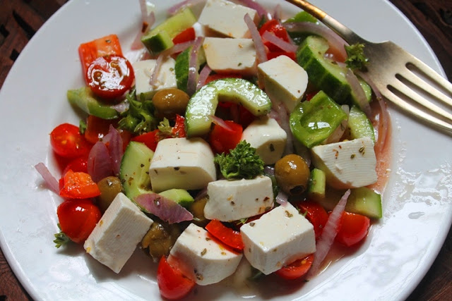 Greek Salad Recipe with Homemade Greek Salad Dressing
