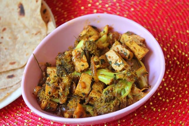 Broccoli Tofu Sabzi Recipe
