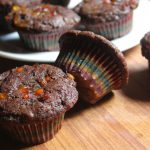 Eggless Chocolate Tutti Fruity Muffins Recipe