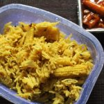 Baby Corn Pulao with Garlic Baby Corn – Kids Lunch Box Ideas 4