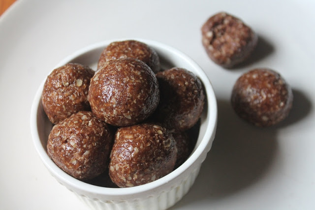 Nutella Oats Energy Balls Recipe
