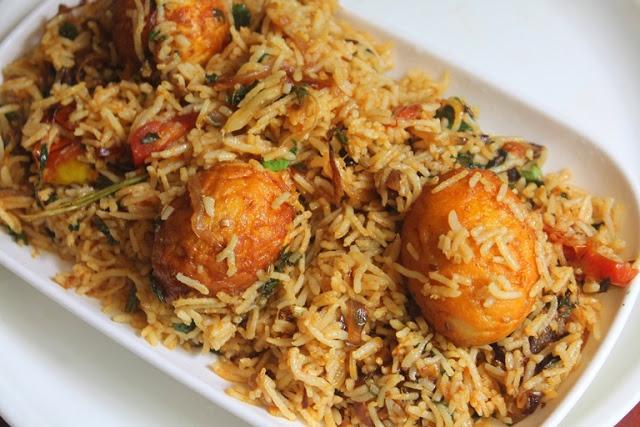 Street Food Style Egg Biryani Recipe – Thattukada Muttai Biryani Recipe