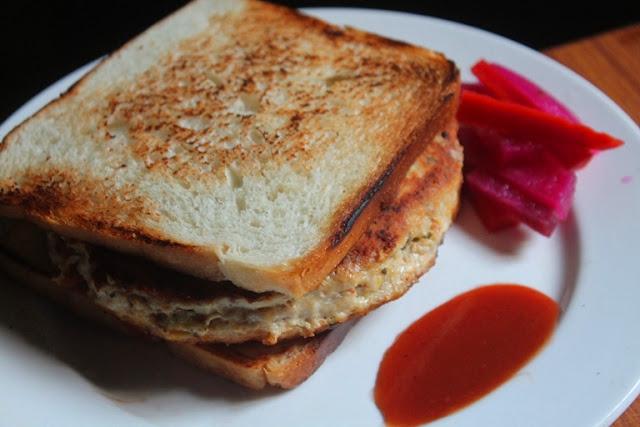 Chicken & Cheese Patty Sandwich Recipe
