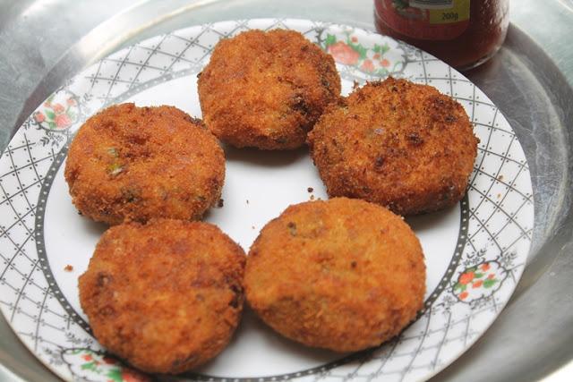 Bakery Style Vegetable Cutlets Recipe – Veg Cutlets Recipe
