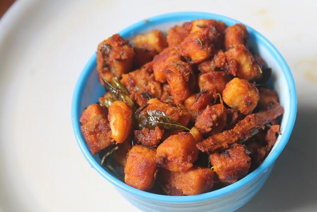 Yam Masala Roast Recipe – Chena Kizhangu Masala Roast Recipe