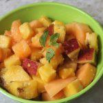 Fruit Salad with Honey, Lemon & Ginger Dressing