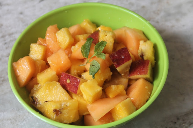 Fruit Salad with Honey, Lemon & Ginger Dressing