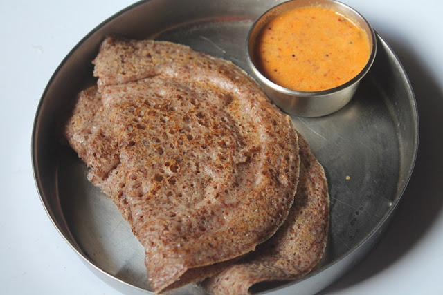 Ragi Cholam Dosa Recipe / Finger Millet & Jowar Dosa  – Dosa Batter in a Blender