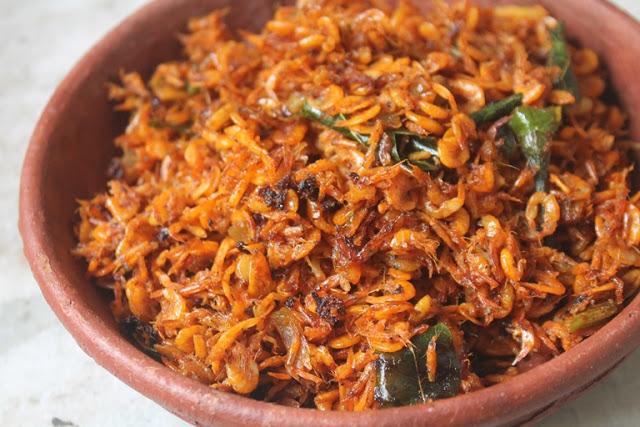 Baby Prawns Roast Recipe – Kooni Podi Roast Recipe – Kooni Varuval Recipe
