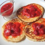 Nigella Lawson's Ricotta Hotcakes Recipe – Ricotta Pancakes with Strawberry Sauce