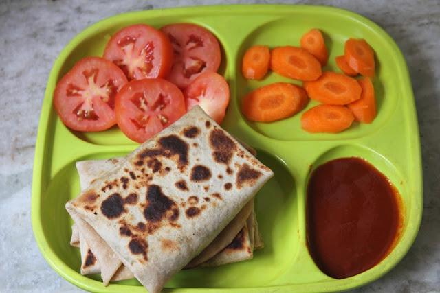 Mushroom Roti Parcels Recipe – Kids Lunch Box Ideas