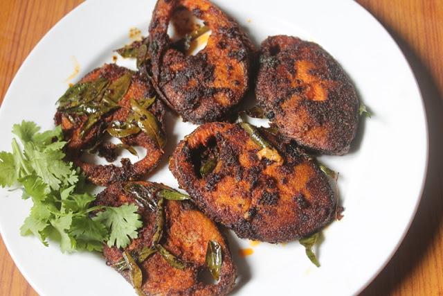 Seer Fish Fry Recipe – Fried King Fish Recipe – Vanjaram Meen Varuval Recipe