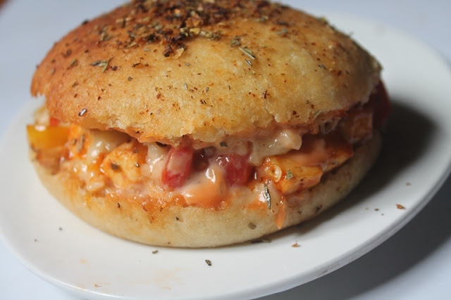 Domino's Pizza Burger Recipe – Domino's Style Pizza Burger Recipe (Veg Version)
