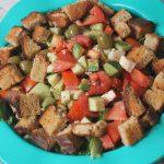 Crunchy Feta Salad Recipe – Feta Salad with Crispy Croutons