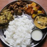 Lunch Menu 14 – Drumstick Avial, Pepper Broccoli Stir Fry, Mango Poriyal, Ladies Finger Pulikari