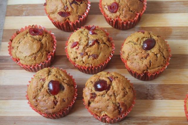 Cherry Cupcakes Recipe – Eggless Whole Wheat Cherry Cupcakes Recipe
