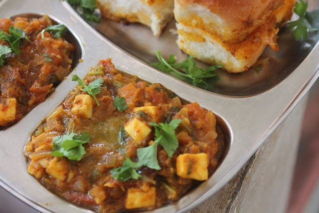 Paneer Pav Bhaji Recipe – Mumbai Street Food Recipe