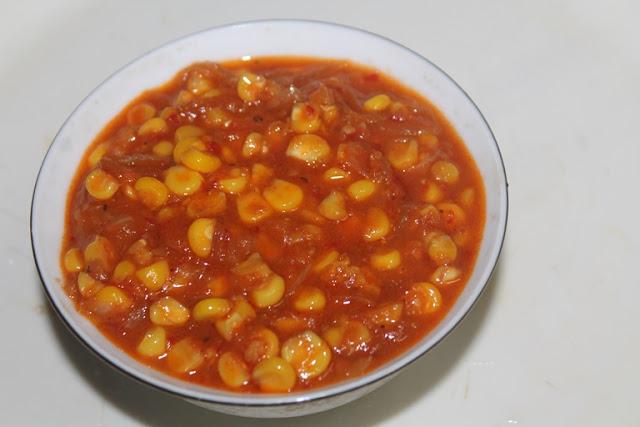 Sweet Corn Masala Recipe