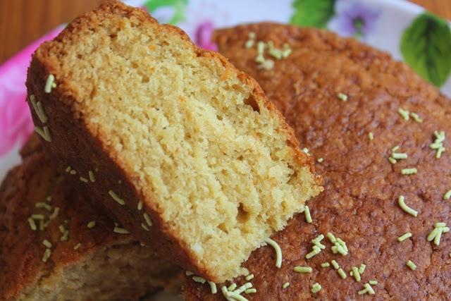 Eggless Whole Wheat Milk Cake Recipe