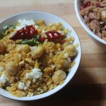 Poha Sundal Recipe – Aval Sundal Recipe – Poha Chana Sundal Recipe