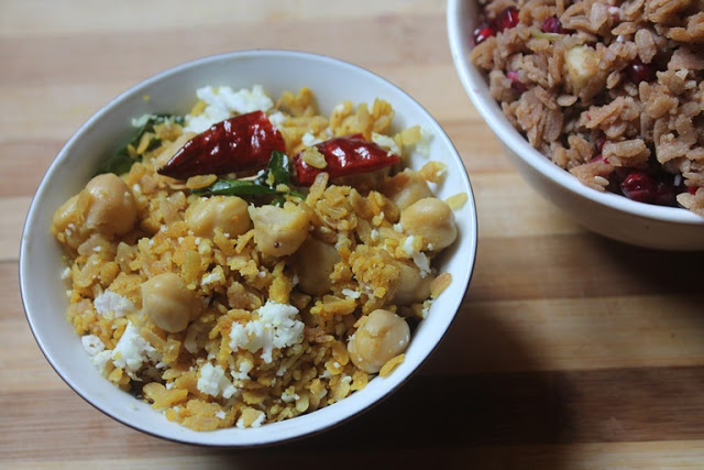 Poha Sundal Recipe – Aval Sundal Recipe – Poha Chana Sundal Recipe