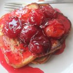 Cinnamon French Toast with Poached Plums Compote