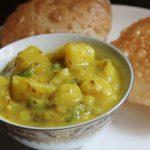 Puri Bhaji Recipe – Breakfast Aloo Bhaji Recipe – Aloo Bhaji without Onions & Garlic
